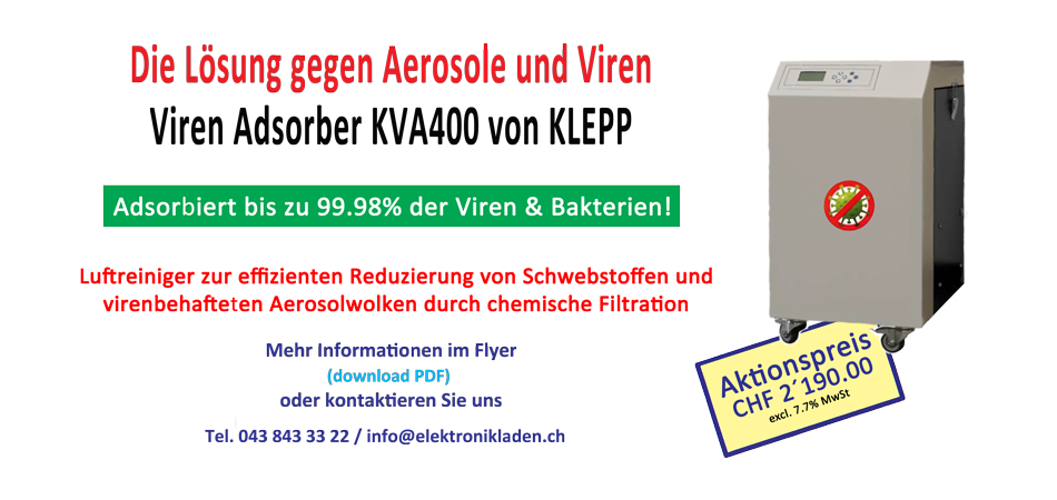 Viren Adsorber KVA400 Aktion